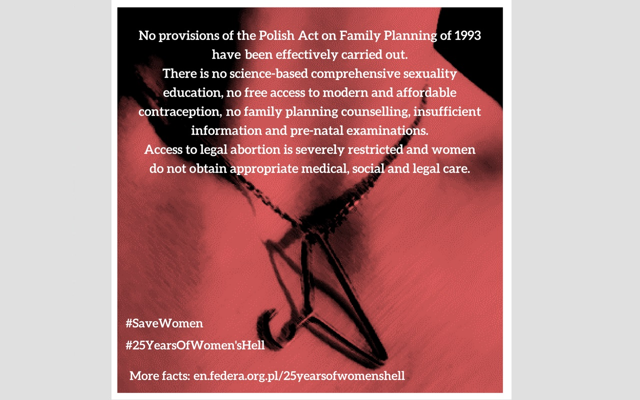 #25YearsOfWomen'sHell – 25th disgraceful anniversary of the Polish anti-abortion law